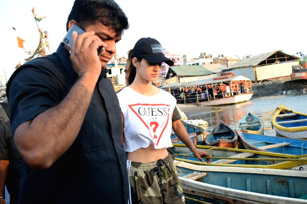 Actress Disha Patani seen in Mumbai's Madh Jetty, on April 25, 2019. - Disha Patani