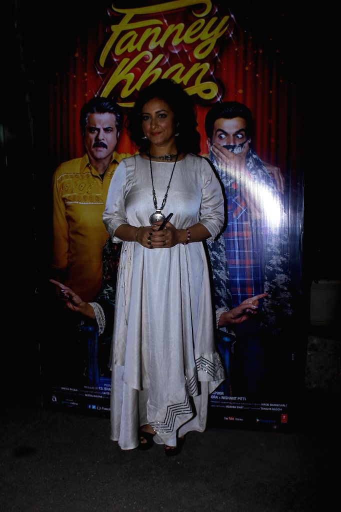 """Actress Divya Dutta at the special screening of upcoming film """"Fanney Khan"""", in Mumbai on Aug 1, 2018. - Divya Dutta and Fanney Khan"""