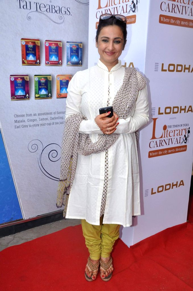 Actress Divya Dutta during Neeraj's book launch Ghalib Danger at the Literary Carnival, a festival for author, film-makers, lyricists, foodies, fitness experts, money guru and musicians in ... - Divya Dutta