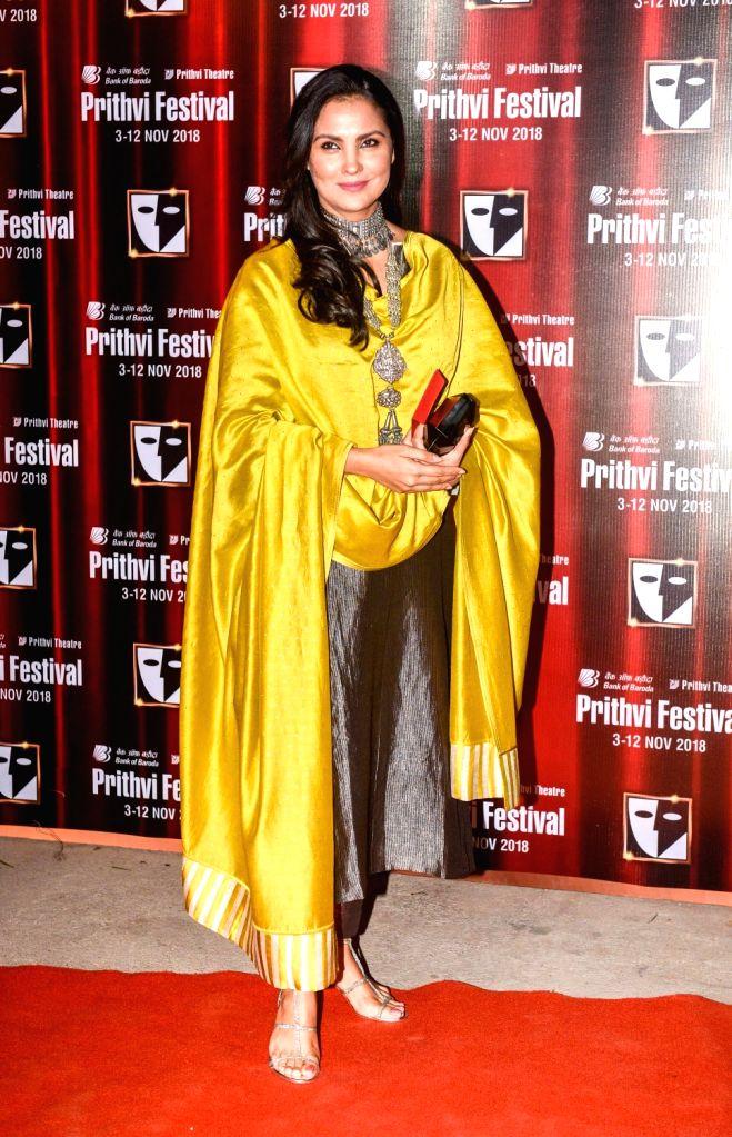 Actress Divya Dutta during the Prithvi festival's opening ceremony in Mumbai on Nov 3, 2018. Prithvi Theatre celebrates 40 years. The festival began on November 3 and will end on November 12. - Divya Dutta