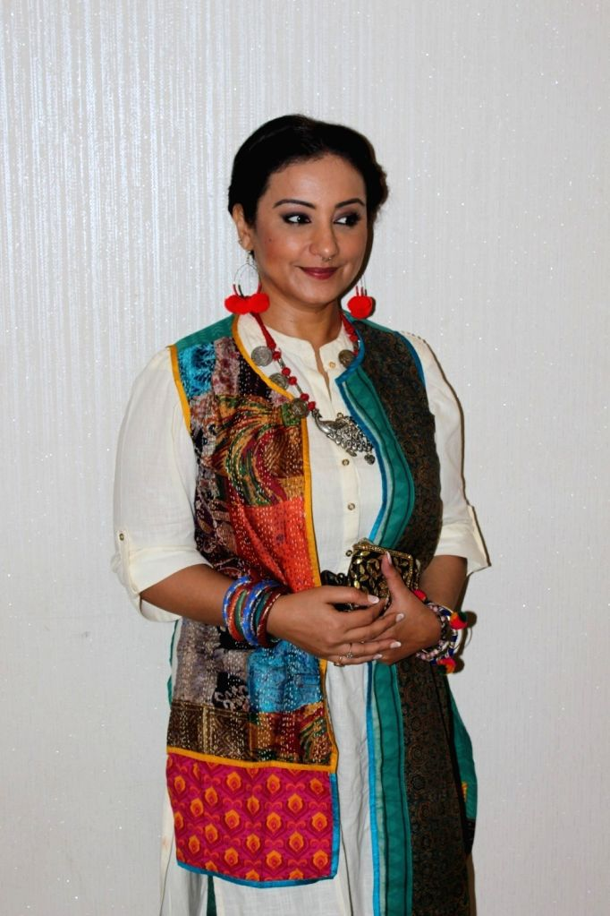 Actress Divya Dutta during the trailer launch of film Phullu in Mumbai, on June 1, 2017. - Divya Dutta