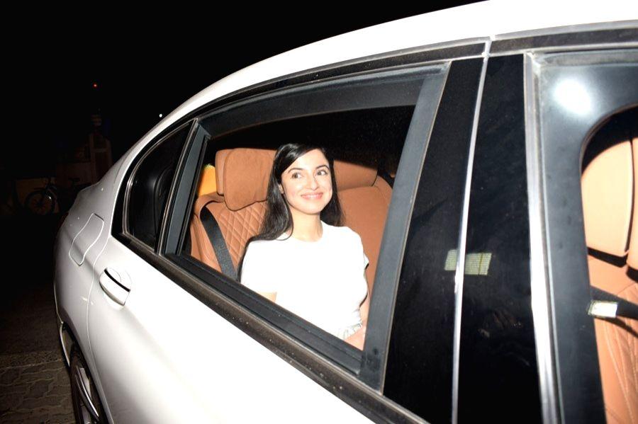 "Actress Divya Khosla Kumar at the special screening of upcoming film ""Pad Man"" in Mumbai on Feb 7, 2018. - Divya Khosla Kumar"