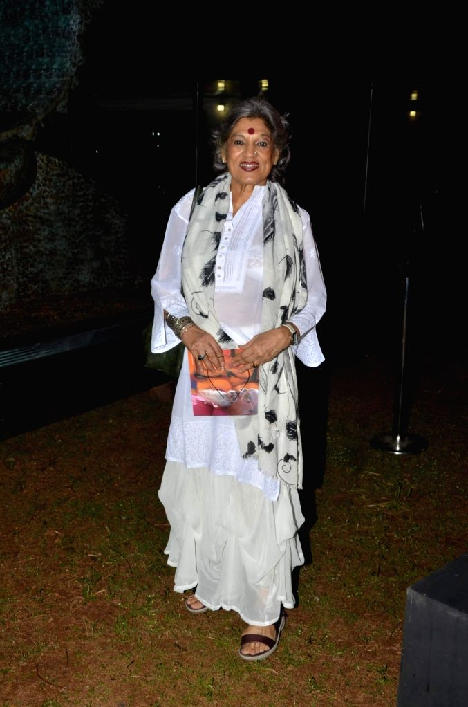 Actress Dolly Thakore during the inauguration of his show The Silent Eternity, in Mumbai, on Nov 29, 2016. - Dolly Thakore