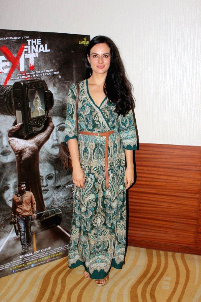 "Actress Elena Kazan duirng the press conference of film ""The Final Exit"" in Mumbai on Sept 12, 2017. - Elena Kazan"