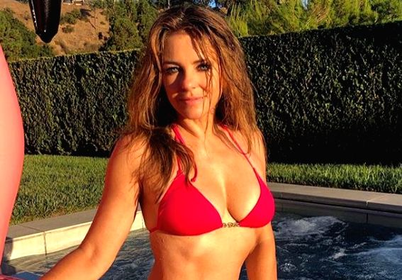 """Actress Elizabeth Hurley, 54, says she is """"too old"""" to wear a bikini in public. However, just two weeks ago, the actress posted a photo on Instagram clad in a red bikini, sitting beside a ... - Elizabeth Hurley"""