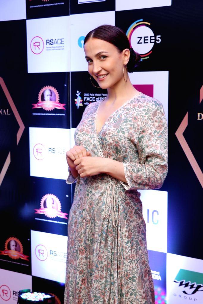 Actress Elli Avram at Dadasaheb Phalke International Film Festival Award 2020 in Mumbai on Feb 11, 2020. - Elli Avram