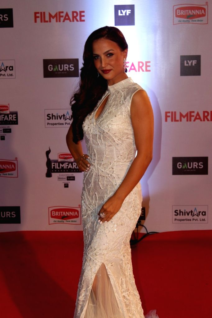 Actress Elli Avram during the 61st Britannia Filmfare Awards in Mumbai on January 15, 2016. - Elli Avram