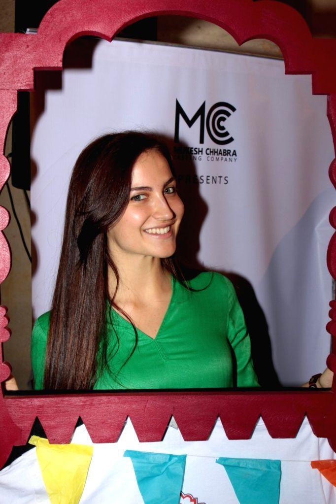 Actress Elli Avram during the Khidkiyaan Theatre Festival in Mumbai on January 17, 2016. - Elli Avram