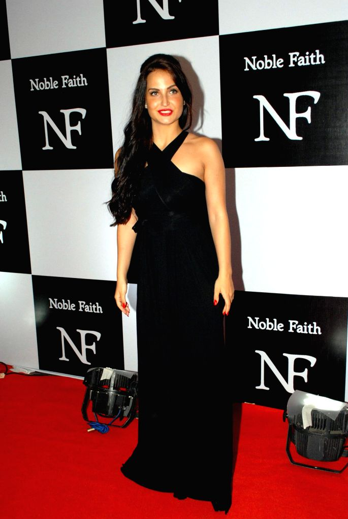 Actress Elli Avram during the launch of the brand Noble Faith in Mumbai on Aug 14, 2014. - Elli Avram