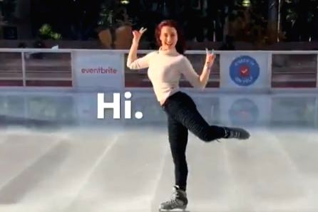 Actress Elli AvrRam shared a video of herself dancing on ice and said that a movie can be made on figure skating in India. Elli on Wednesday took to Twitter to share a video of herself dancing on ice. - Elli Avr