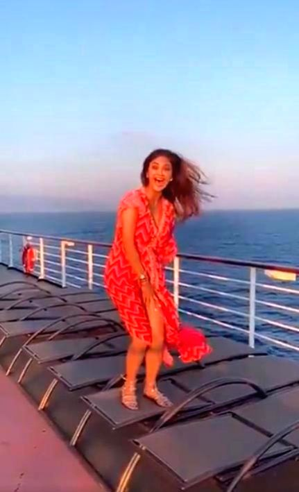 Actress-entrepreneur Shilpa Shetty-Kundra's Marilyn Monroe moment happened two days ago, but the video went viral only on Thursday, two days after it was posted. - Shilpa Shetty