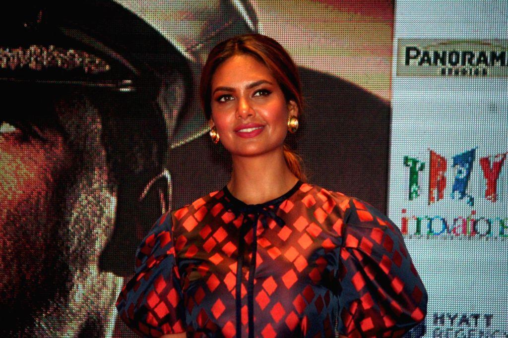 "Actress Esha Gupta during the promotion of her upcoming film ""Rustom"" in Kolkata, on Aug 4, 2016. - Esha Gupta"
