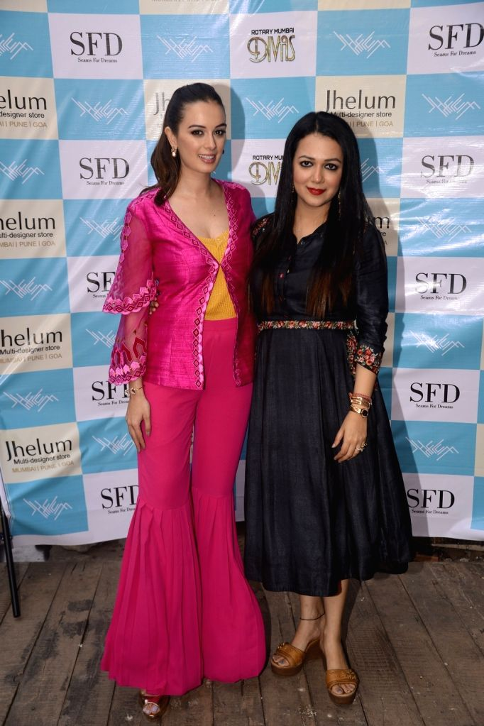 Actress Evelyn Sharma during a fashion programme in Mumbai on April 4, 2018. - Evelyn Sharma