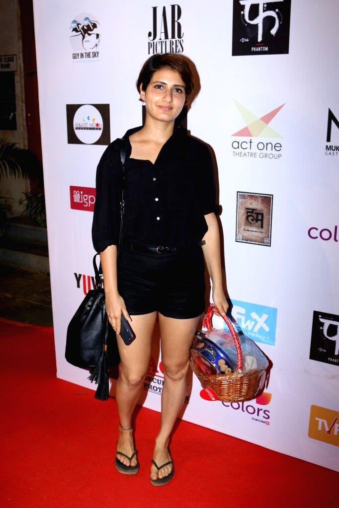 Actress Fatima Sana Shaikh during the Colours Khidkiyaan Theater Festival-Day 5 in Mumbai on March 5, 2017. - Fatima Sana Shaikh