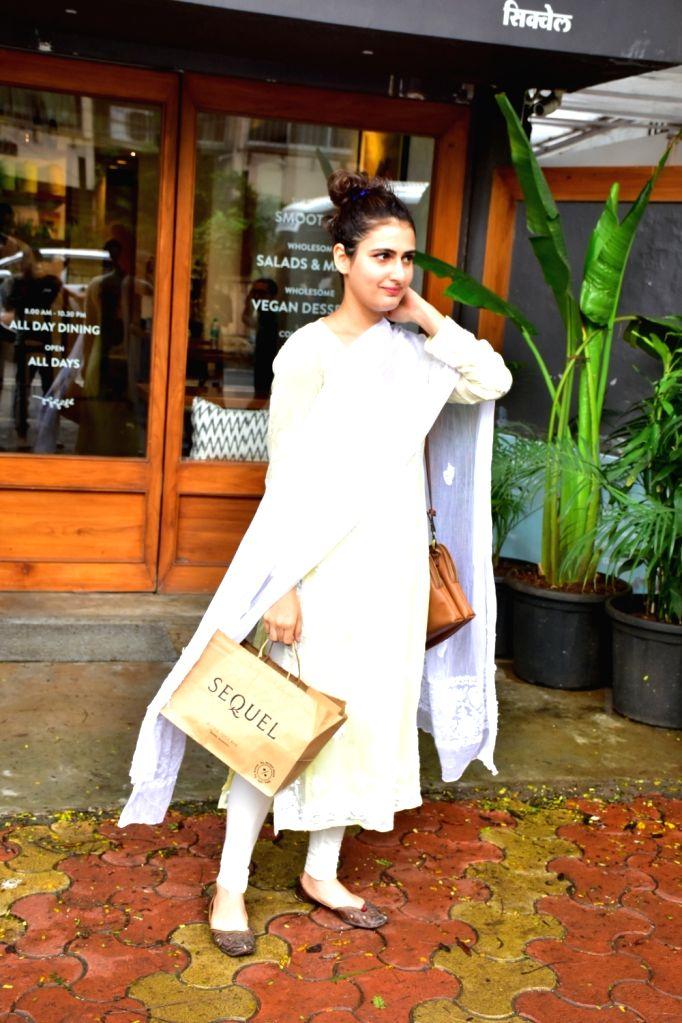 Actress Fatima Sana Shaikh seen at Mumbai's Bandra  on July 17, 2018. - Fatima Sana Shaikh