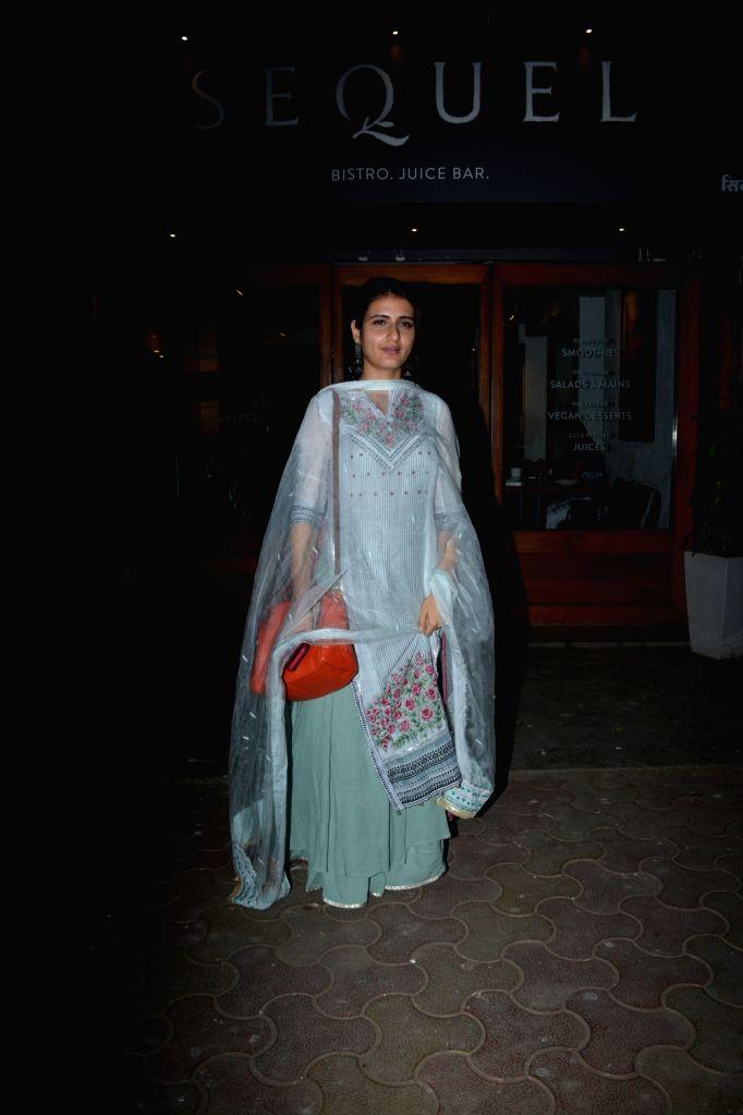 Actress Fatima Sana Shaikh seen at Mumbai's Bandra on Dec 12, 2018. - Fatima Sana Shaikh