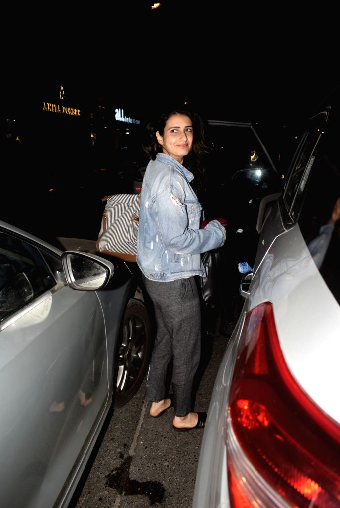 Actress Fatima Sana Shaikh seen at Soho house in Mumbai on Feb 24, 2019. - Fatima Sana Shaikh