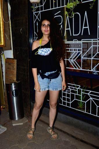 Actress Fatima Sana Shaikh seen at Versova in Mumbai on Nov 20, 2020. - Fatima Sana Shaikh