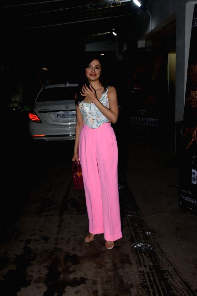 "Actress-filmmaker Divya Khosla Kumar at the screening of the upcoming film ""Batla House"" in Mumbai on Aug 13, 2019. - Divya Khosla Kumar"