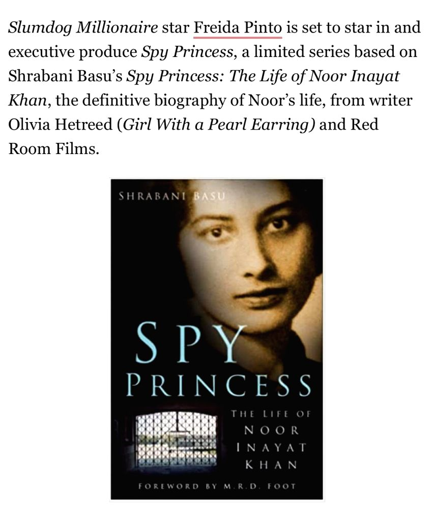 Actress Freida Pinto will essay British spy Noor Inayat Khan in the upcoming limited series, Spy Princess. - Freida Pinto and Noor Inayat Khan