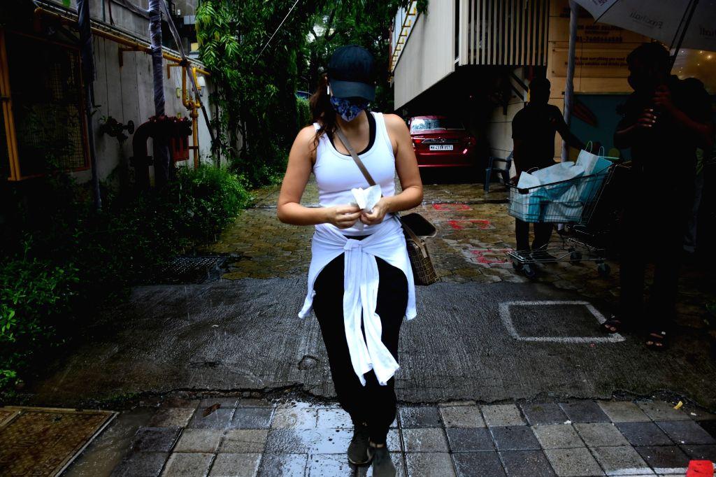 Actress Gabriella Demetriades seen at Khar in Mumbai on July 4, 2020. - Gabriella Demetriades