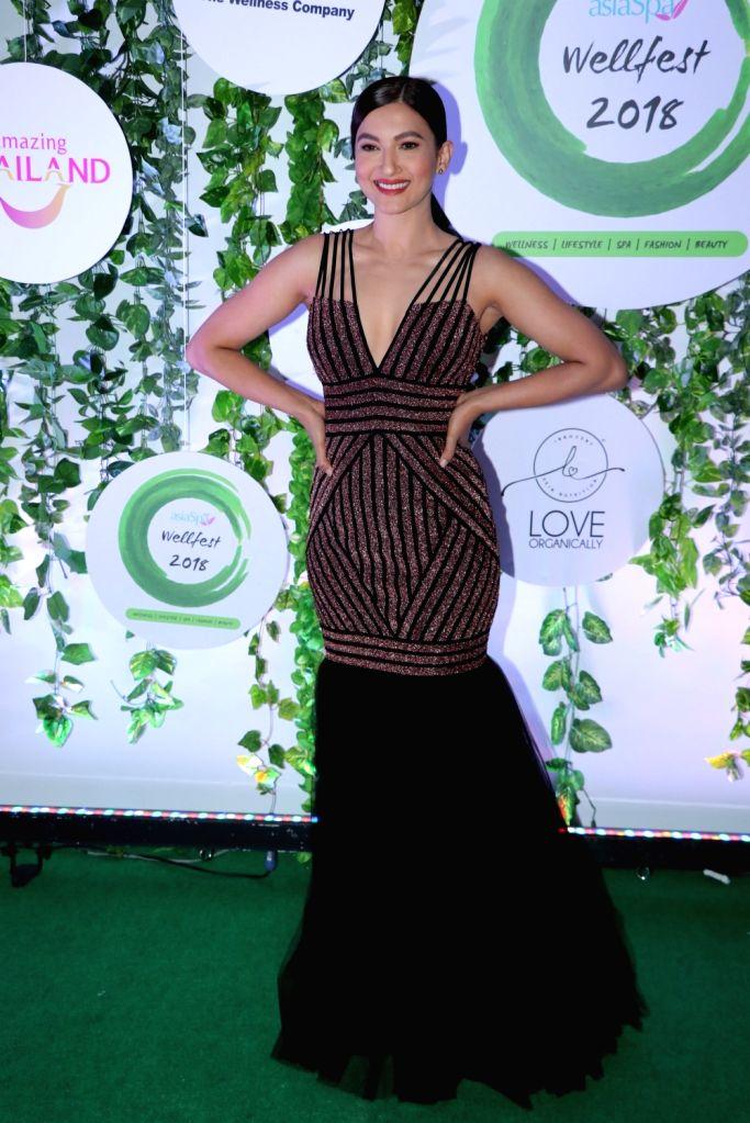 Actress Gauahar Khan at the red carpet of Asia Spa Fit & Fabulous Awards 2018 in Mumbai on Oct 30, 2018. - Gauahar Khan