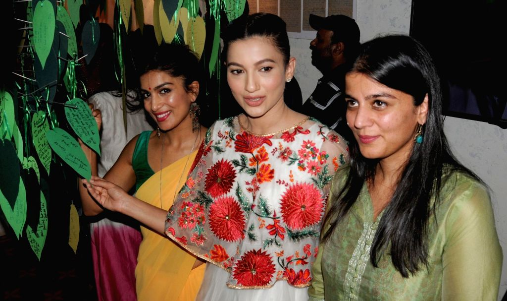 Actress Gauhar Khan during her visit to Partition Museum, at Town Hall, in Amritsar on April 14, 2017. - Gauhar Khan