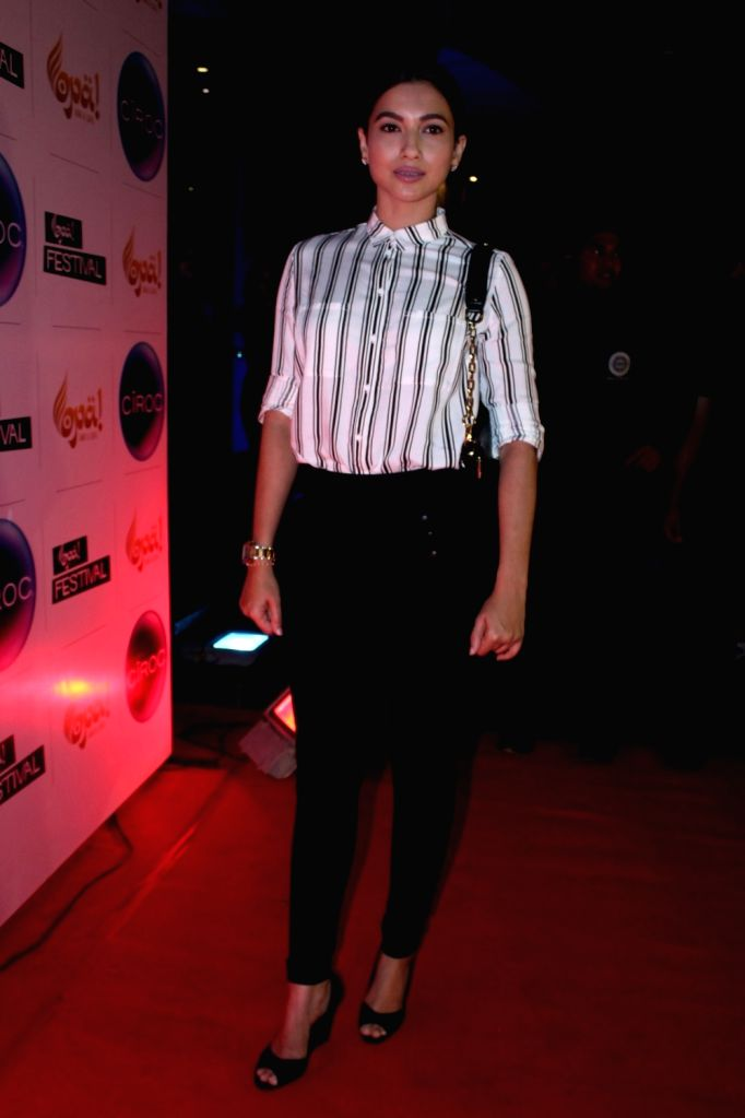 Actress Gauhar Khan during the celebration of Opa Bar and Cafe 1st anniversary, in Mumbai on Nov 22, 2016. - Gauhar Khan