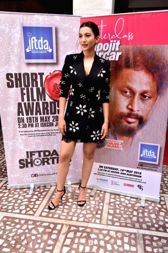 Actress Gauhar Khan seen at Hare Krishna Land (ISKCON Juhu) in Mumbai, on May 20, 2018. - Gauhar Khan