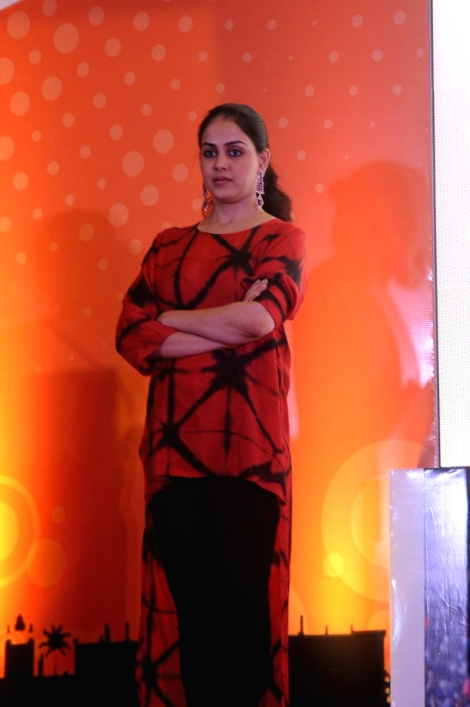 Actress Genelia D'souza during the launch of the Labour Analgesia App, Birth Ease in Mumbai on Oct. 16, 2016. - Genelia