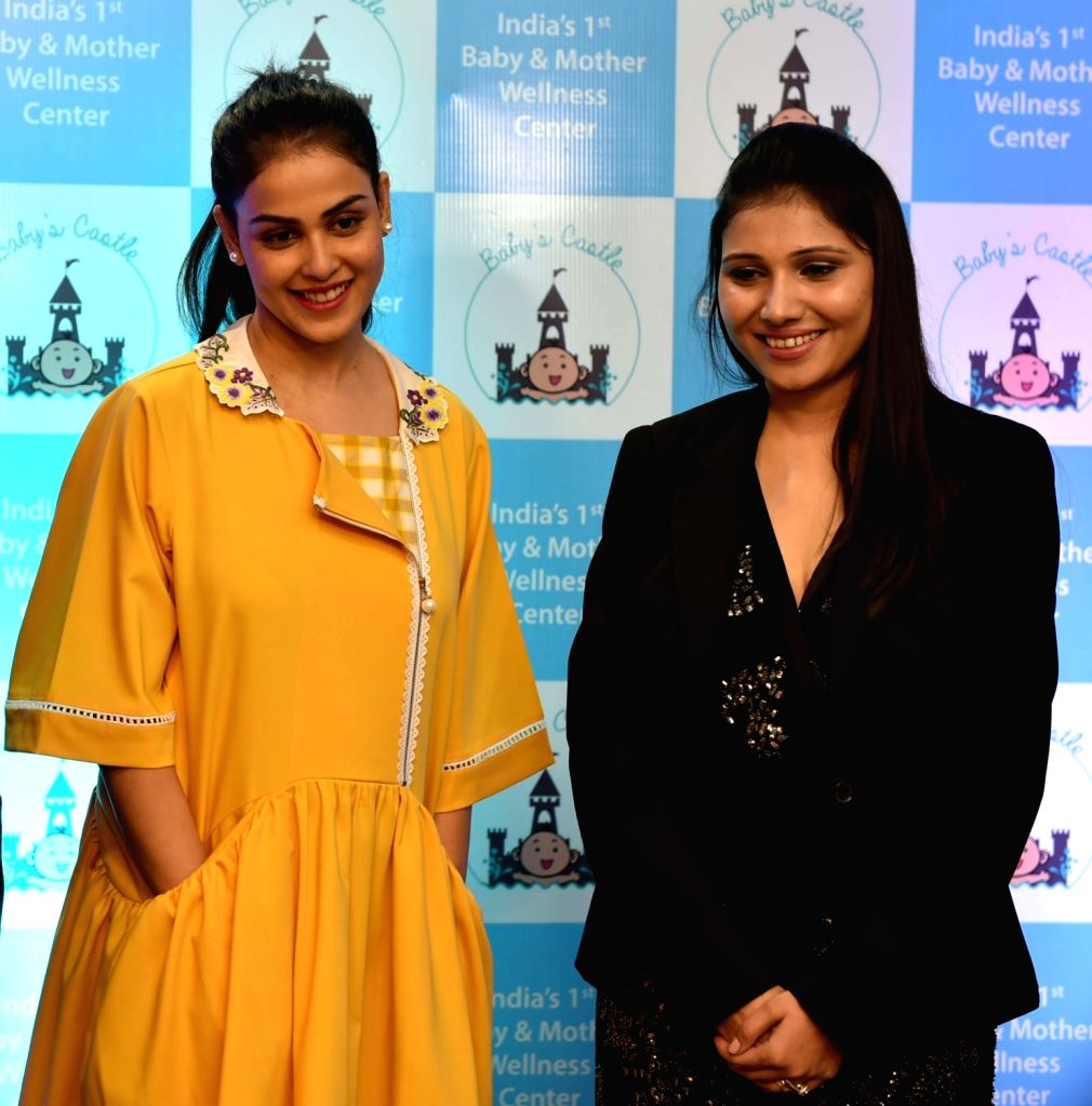 "Actress Genelia D'Souza launches ""Baby and Mother Wellness Centre"" in Mumbai on Nov 23, 2016. - Genelia D'Souza"