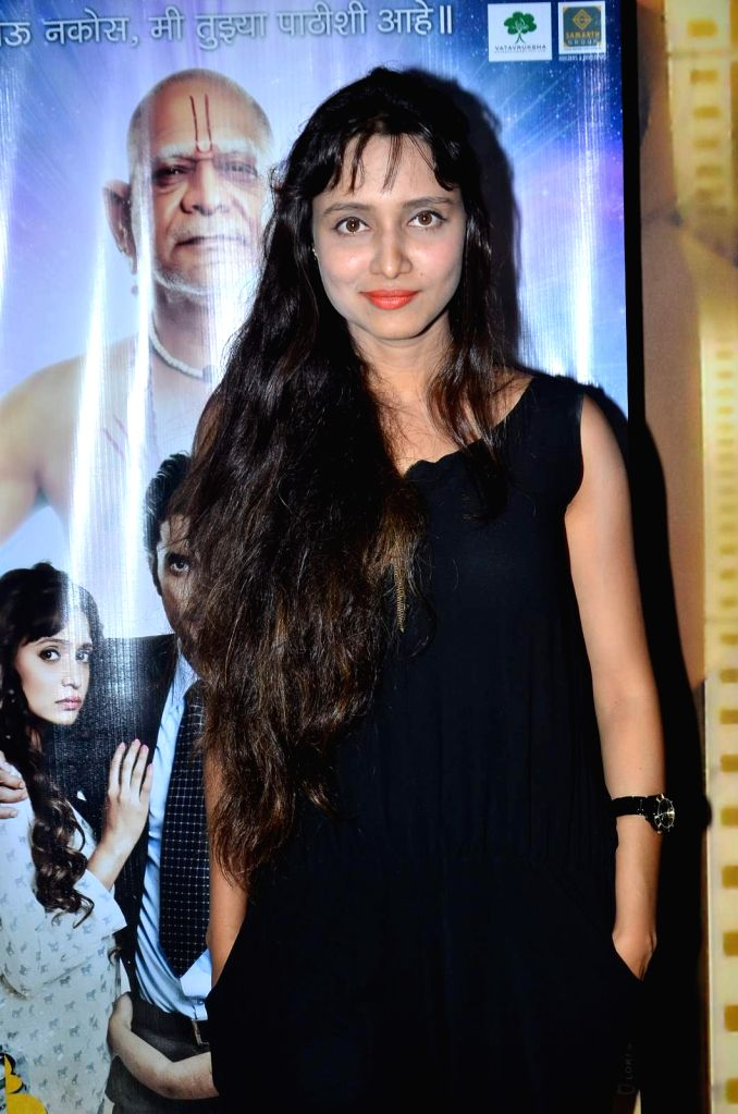 Actress Girija Joshi during the trailer launch of Marathi film Deool Banda in Mumbai, on July 9, 2015. - Girija Joshi