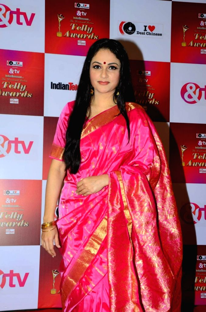 Actress Gracy Singh during the 14th Indian Telly Awards in Mumbai, on Nov 28, 2015. - Gracy Singh