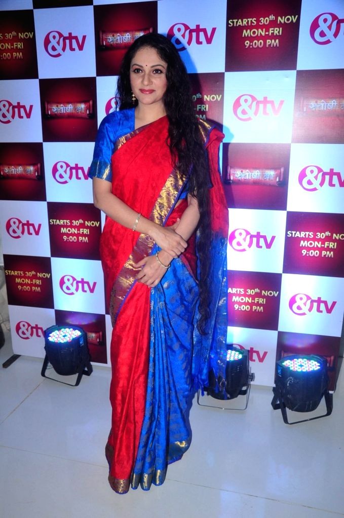Actress Gracy Singh during the media interaction for & TV upcoming show Santoshi Maa in Mumbai on November 25, 2015. - Gracy Singh