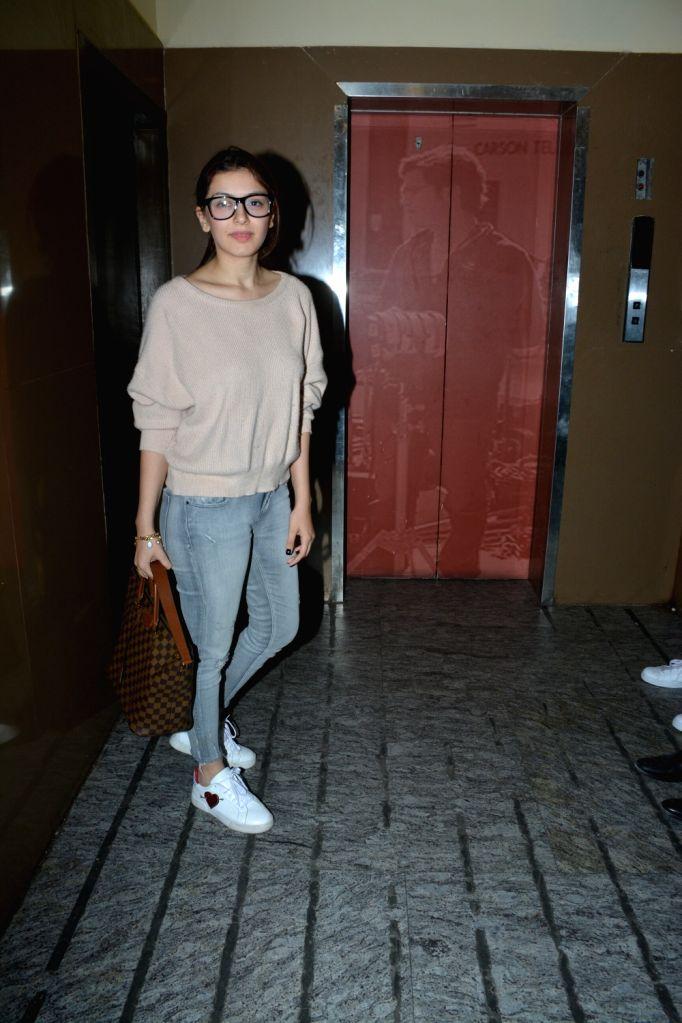 Actress Hansika Motwani seen at Mumbai's Juhu on Dec 5, 2018. - Hansika Motwani