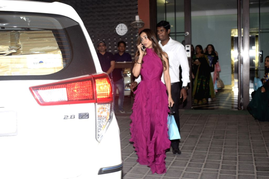 Actress Helen at Salma Khan's birthday party hosted by Arpita Khan Sharma in Mumbai, on Dec 7, 2018. - Helen, Salma Khan and Arpita Khan Sharma