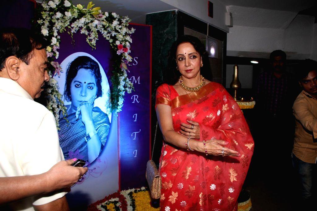 Actress Hema Malini during the ``Jaya Smriti- a dance tribute`` to her late mother Jaya Chakravarthi in Mumbai, on November 15, 2015.