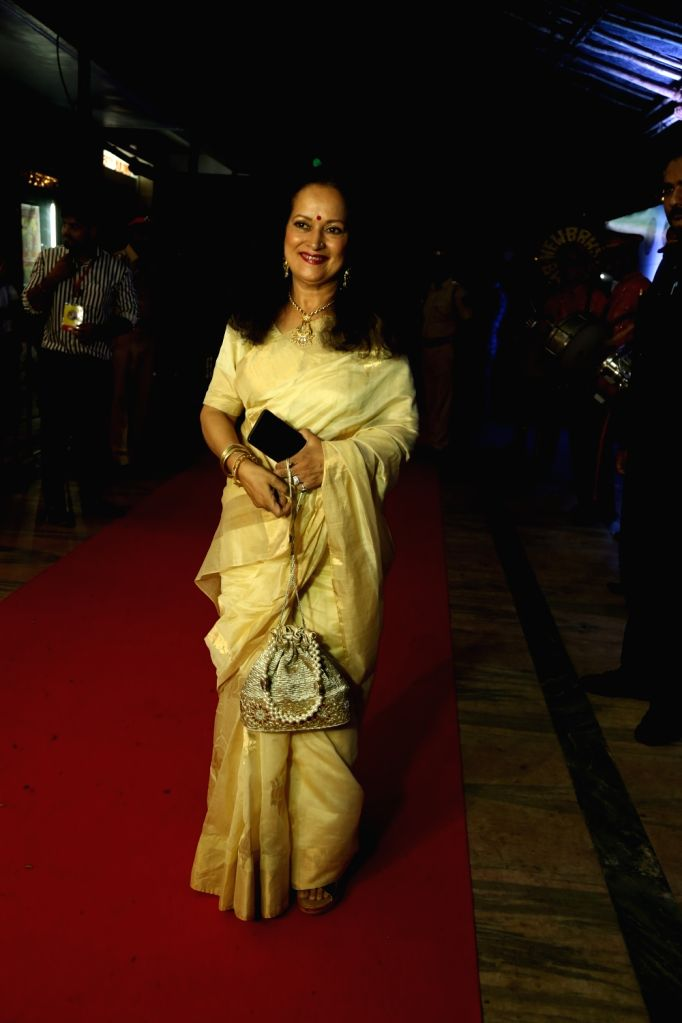 "Actress Himani Shivpuri during a special event organised to celebrate 25 years of the film ""Hum Aapke Hain Koun"", in Mumbai on Aug 9, 2019. - Himani Shivpuri"