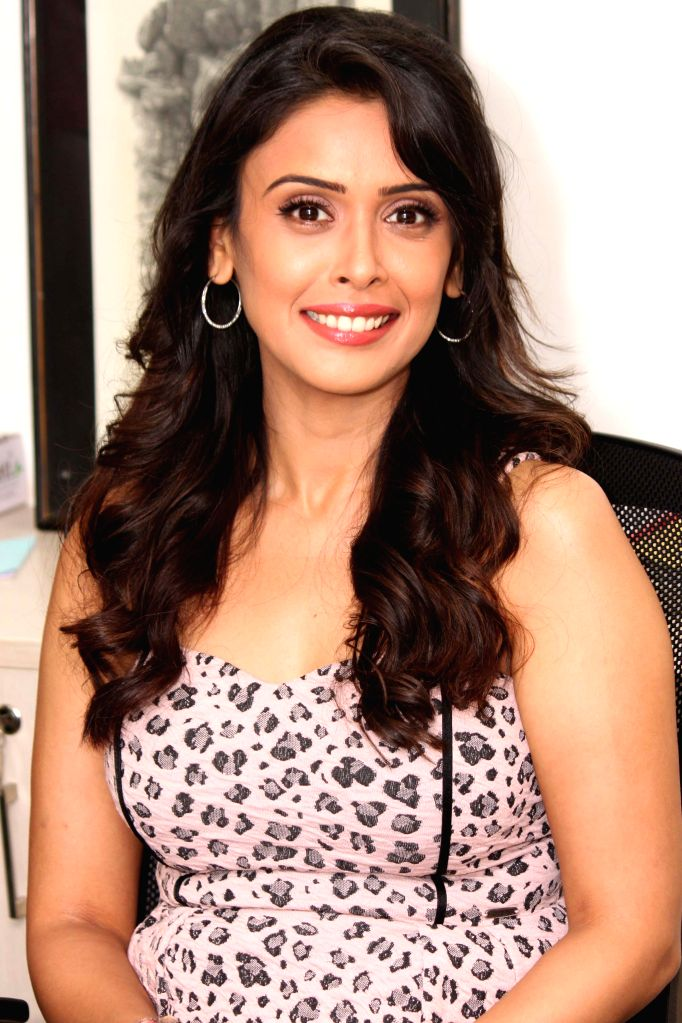 Actress Hrishitaa Bhatt during an interaction at the office of IANS, in New Delhi, on June 22, 2015. - Hrishitaa Bhatt