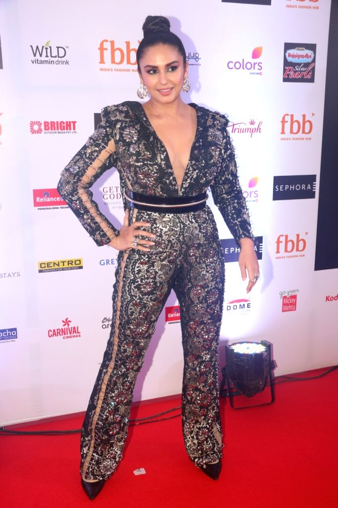 Actress Huma Qureshi at the finale of Fbb Colors Femina Miss India 2019 in Mumbai on June 15, 2019. - Huma Qureshi