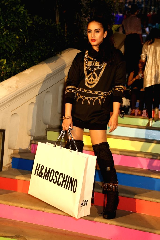 Actress Huma Qureshi at the H&M and Moschino TV launch in New Delhi on Nov 1, 2018. - Huma Qureshi