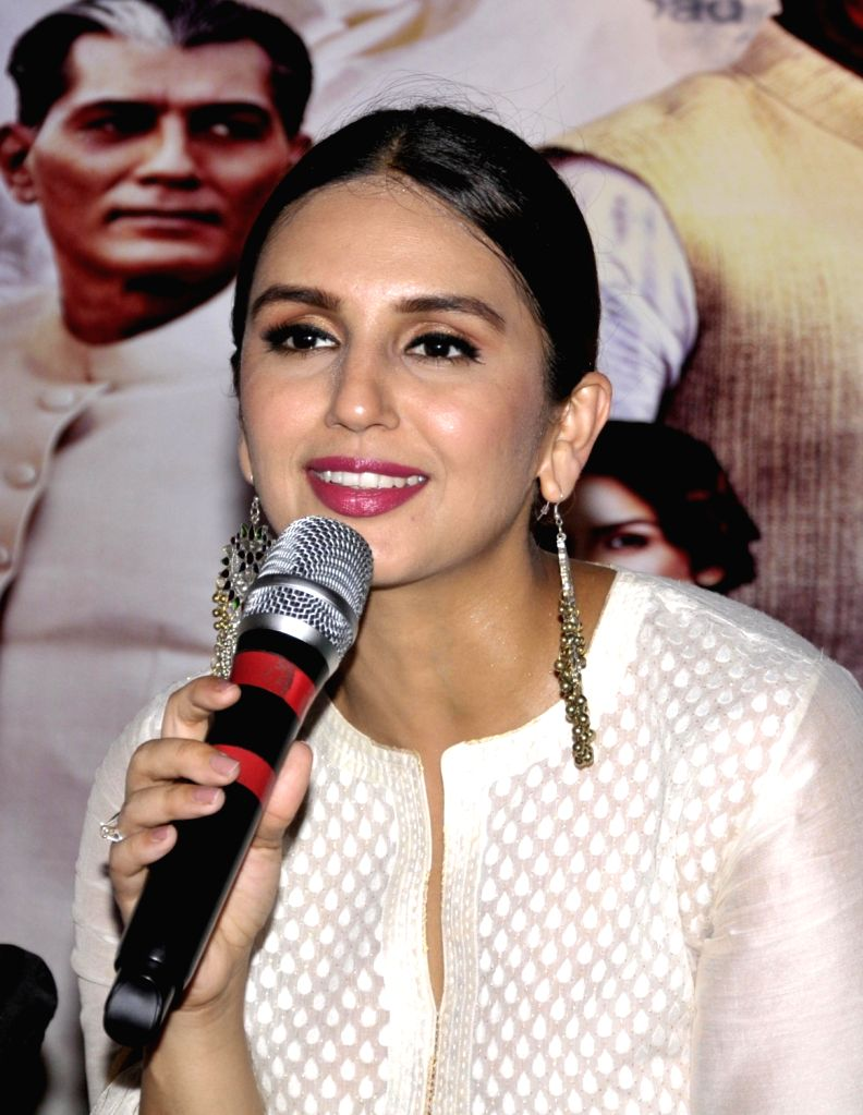 """Actress Huma Qureshi during a press conference to promote their upcoming film """"Partition 1947"""" in Amritsar on Aug 12, 2017. - Huma Qureshi"""