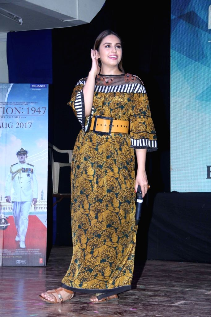 Actress Huma Qureshi during a programme in Jaipur on Aug 18, 2017. - Huma Qureshi