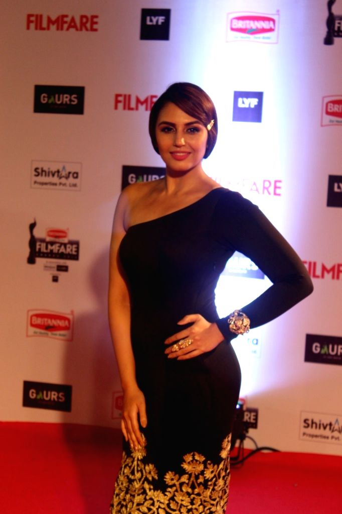 Actress Huma Qureshi during the 61st Britannia Filmfare Awards in Mumbai on January 15, 2016. - Huma Qureshi