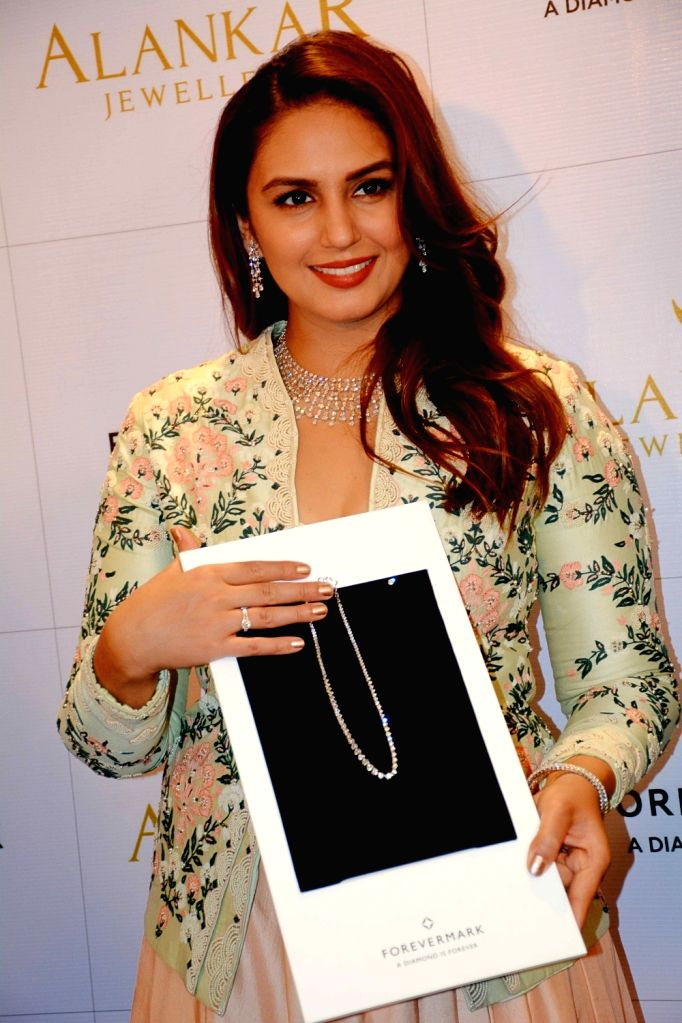 Actress Huma Qureshi during the launch of a jewelry store in Patna on Dec 4, 2017. - Huma Qureshi