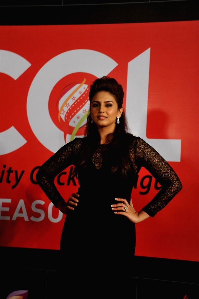 Actress Huma Qureshi during the media interaction for the upcoming Celebrity Cricket League 4 in Mumbai on December 20, 2013. - Huma Qureshi