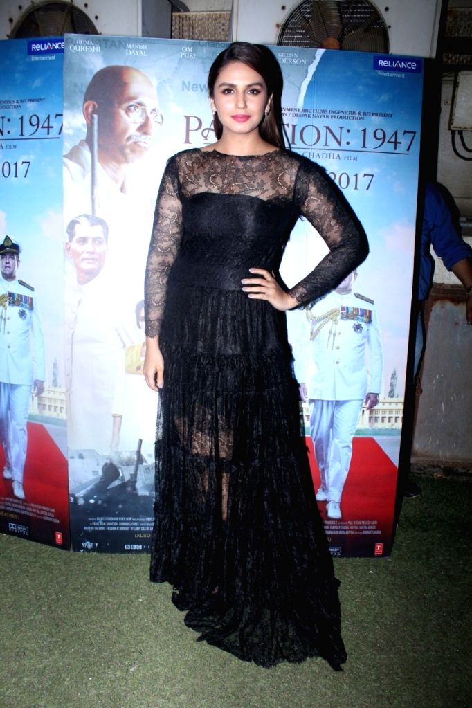 """Actress Huma Qureshi during the special screening of film """"Partition: 1947"""" in Mumbai on Aug 17, 2017. - Huma Qureshi"""