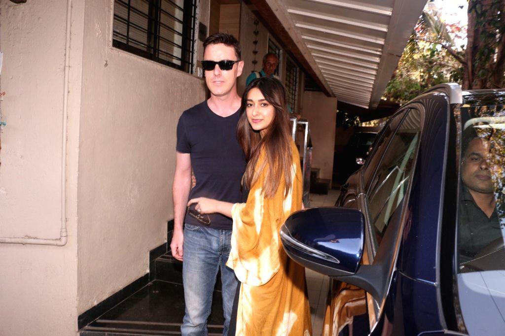 Actress Ileana D'Cruz and her boyfriend Andrew Kneebone seen in Mumbai's Bandra, on Feb 6, 2019. - Ileana D'Cruz