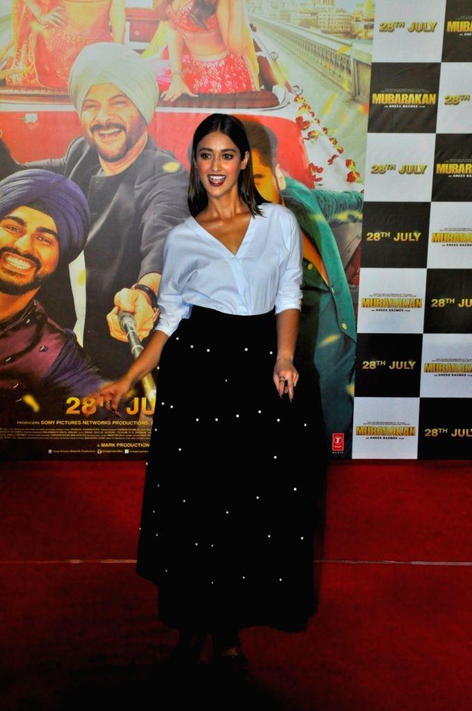 Actress Ileana D'cruz at the trailer launch of upcoming film 'Mubarakan' in Mumbai on June 20, 2017. - Ileana D