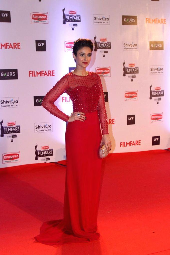Actress Ileana D`Cruz during the 61st Britannia Filmfare Awards in Mumbai on January 15, 2016. - Ileana D